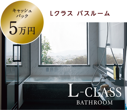 [キャッシュバック5万円]Lクラス バスルーム